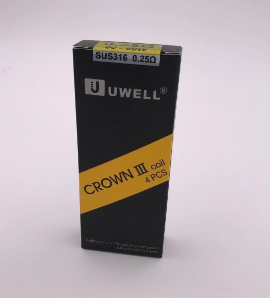 Verdampferköpfe Uwell Crown 3 Coils - 4 Stück