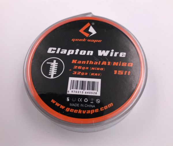 Draht Clapton Wire Kanthal A1 (26GA+32GA) Ni80