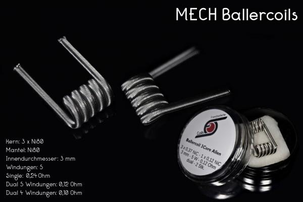MECH Ballercoil - 3Core Alien NiChr80 3 mm - 2 Stück